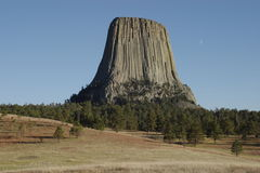Devils Tower. National Monument in Wyoming royalty free stock image