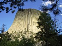 Devils Tower. As seen through the trees Royalty Free Stock Photos
