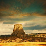 Devils tower Stock Photography