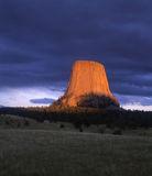 Devils Tower. National Monument in northeast Wyoming royalty free stock photos