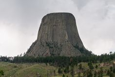 Devils Tower, Black Hills, Wyoming, USA stock photo