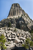 Devils Tower and boulder field Royalty Free Stock Images