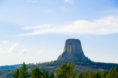 Devils Tower is located in in Crook County, northeastern Wyoming. Also, known as United States National Monument. stock image