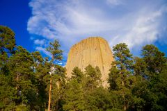 Devils Tower is located in in Crook County, northeastern Wyoming. Also, known as United States National Monument. The world is big stock photography