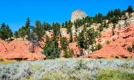 Devils Tower. Mesa Landmark Lakota Royalty Free Stock Photography