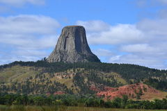 Devils-tower national monument Stock Image