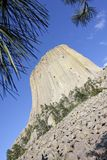 Devils Tower National Monument in Wyoming Royalty Free Stock Photo