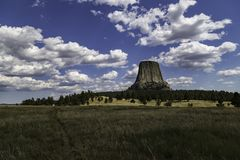 Devils Tower National Monument, Wyoming. Close Encounters of the Third Kind Royalty Free Stock Photo