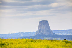 The Devils Tower National Monument Royalty Free Stock Photography