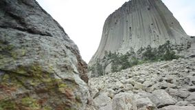 The Devils Tower National Monument, Wyoming, USA stock video footage