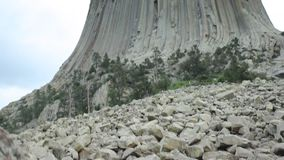 The Devils Tower National Monument, Wyoming, USA stock footage