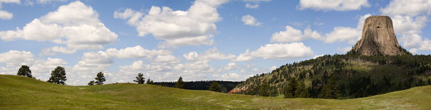 Devils Tower Panoramic Royalty Free Stock Photography