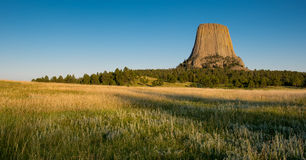 Devils Tower panoramic Stock Photo