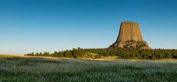 Devils Tower on the plains Royalty Free Stock Photo