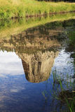 Devils tower reflection Royalty Free Stock Images