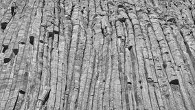 Devils Tower rock formations natural background. Stock Image