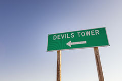 Devils Tower Sign Stock Images