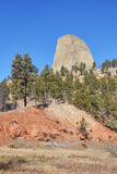 Devils Tower, top attraction in Wyoming State, USA Royalty Free Stock Photos