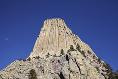 Devils Tower, top attraction in Wyoming State, USA. Stock Image