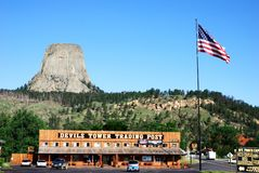 Devils Tower in Wyoming, USA stock images