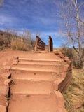 Devils Backbone Trail Stairs royalty free stock photo