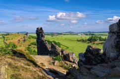 Devils Wall. A landscape in Harz Mountains Royalty Free Stock Photography