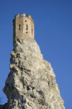 Devin城堡的塔在布拉索夫附近的 免版税库存图片