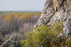 Devin Castle, just outside Bratislava, Slovakia. The castle lies royalty free stock photo