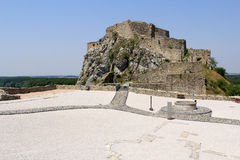 Devin castle near Bratislava (border with Austria) Stock Images