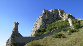 Devin Castle. Part of Devin Castle in Slovakia Stock Photos