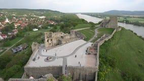 Devin Castle Slovakia 06 stock video