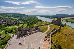 Devin castle in Slovakia. View from above Stock Photo