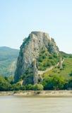 Devin kasztel. Ogólny widok od Danube Zdjęcia Royalty Free
