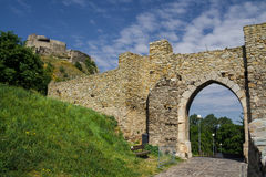 Devin slott i Slovakien Arkivfoto