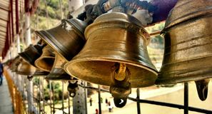Devine Temple bells. There are thousands of bells are there in this temple.you need to wait long in a queue for the visit royalty free stock photos