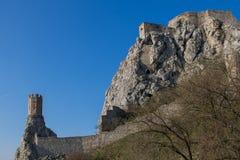 Devinkasteel en Meisjetoren, Slowakije Royalty-vrije Stock Foto's