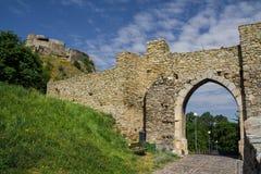 Devinkasteel in Slowakije Stock Foto