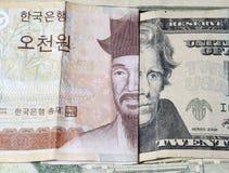 Devise étrangère d'argent Image stock