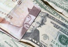 Devise étrangère d'argent Image libre de droits