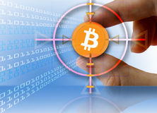 Devise Bitcoin de Digital Image stock