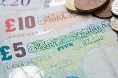 Devise britannique Photographie stock libre de droits