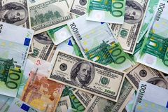 Devise d'argent Photo stock