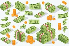 Devise d'argent de vecteur illustration stock