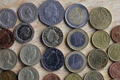 DEVISE D'EUROS DE LIVRE VERS DE STERLING BRITANNIQUE Photographie stock libre de droits