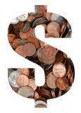Devise dans les pièces de monnaie photo libre de droits