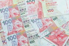 Devise de Hong Kong Dollar Photos libres de droits