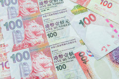 Devise de Hong Kong Dollar Images libres de droits
