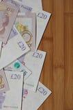 Devise de papier britannique Image stock