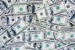 Devise des USA 100 billets d'un dollar Photo libre de droits