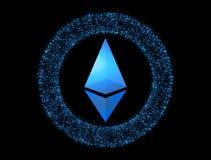 Devise Ethereum de Digital Icône de Cryptocurrency Symbole de futé illustration libre de droits